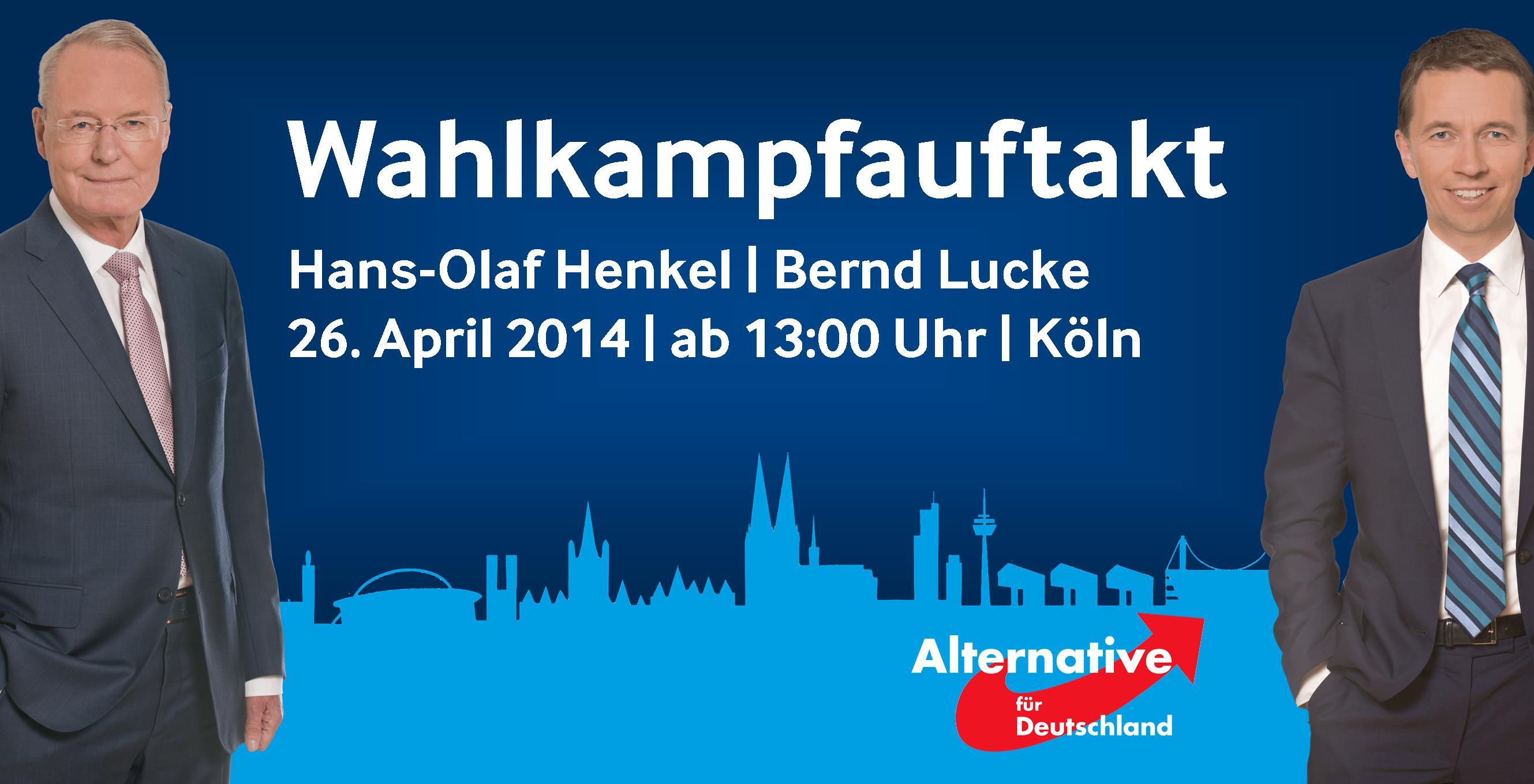 Sa. 26.04.2014, Wahlkampfauftakt in Köln