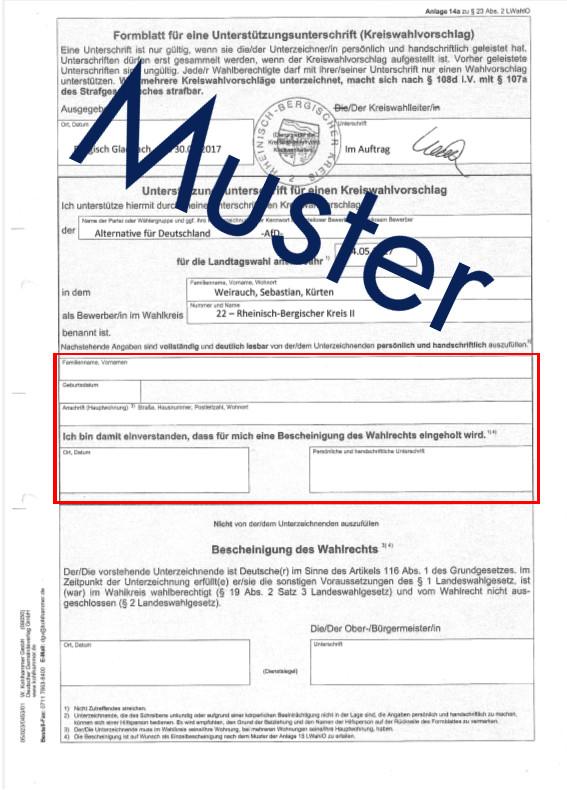 Muster Formular