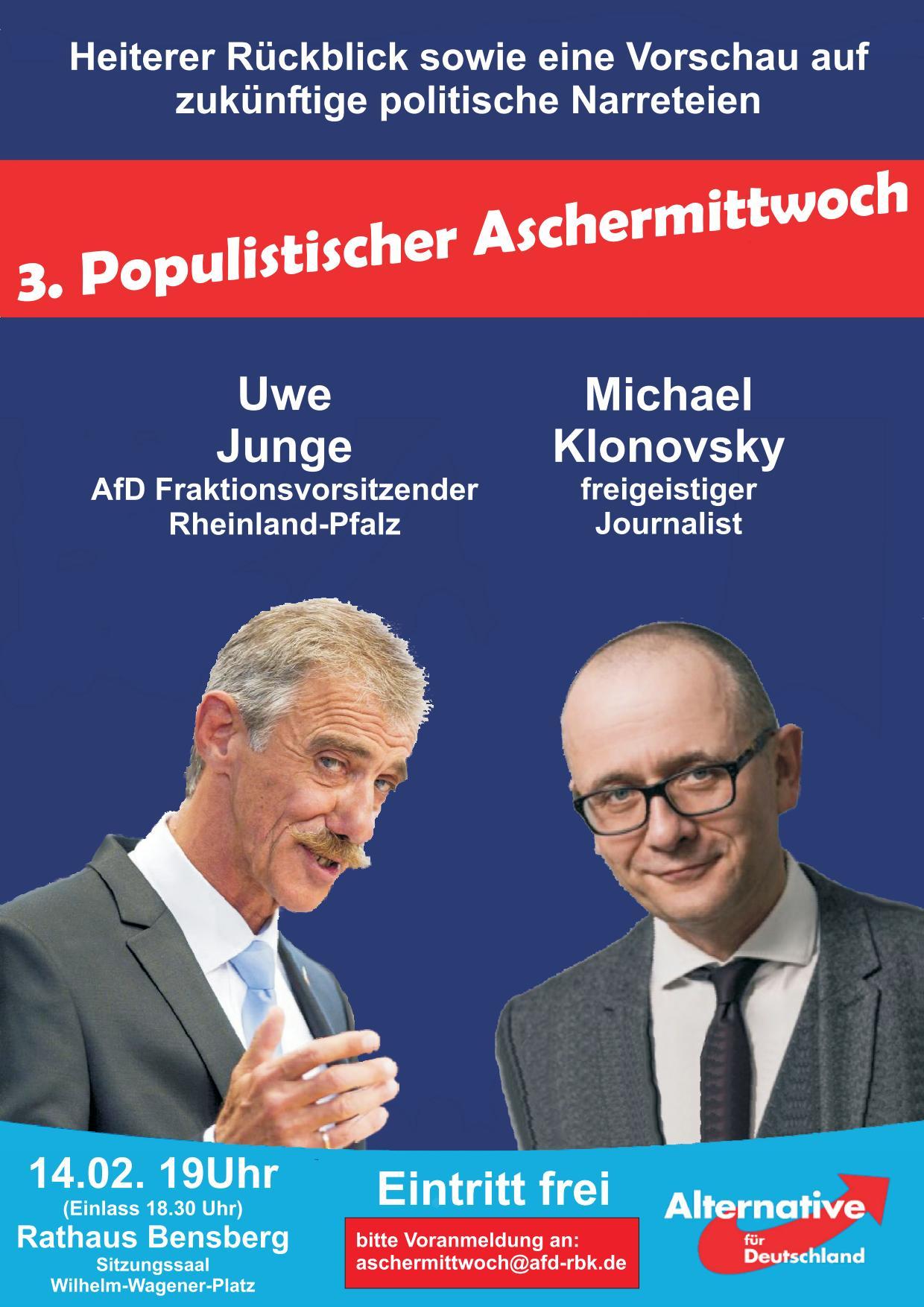 Populistischer Aschermittwoch